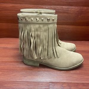 CoverGirl fringe ankle boots NWOB 6M